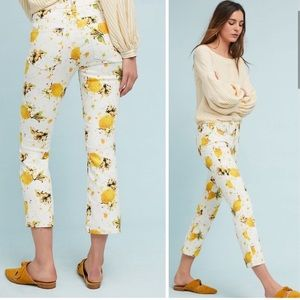NWOT Anthro Pilcro Lemon High Rise Cropped Jeans